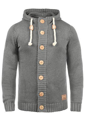 Solid Megztinis »Peer« kardiganas su Kapuze