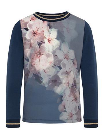 NAME IT Gėlių raštu Marškinėliai su ilgis rank...