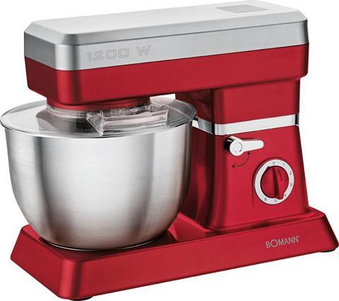 BOMANN Küchenmaschine KM 398 CB raudona 1200 ...