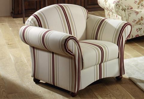 ® Fotelis »Carolina« su medinės apvali...