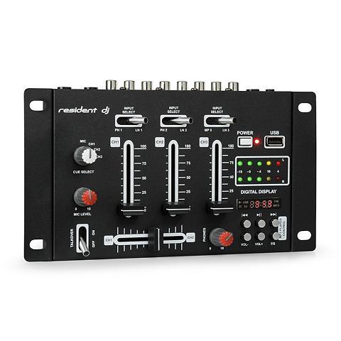 resident dj DJ-Mixer Mischpult USB laikmena juoda ...
