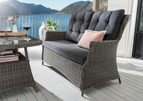 DESTINY Sodo sofa »Casa« Polyrattan grau ir at...