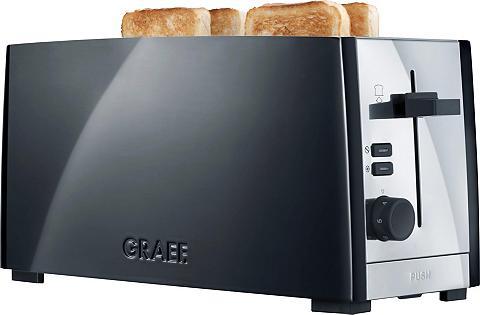 Graef Toaster TO 102 schwarz-matt 2 lange Sc...