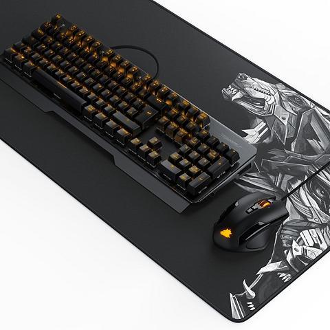 Titanwolf Mechanische Tastatur Maus & Mauspad Ga...