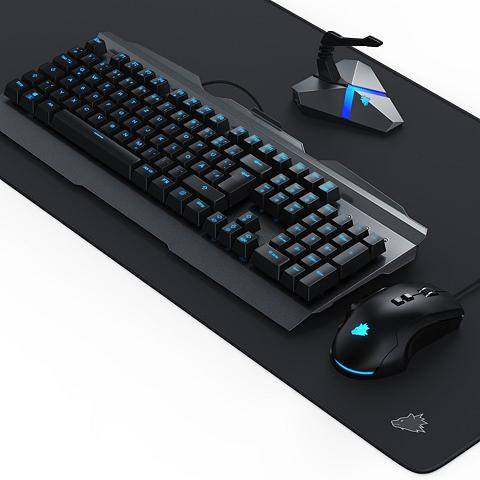 Titanwolf Gaming Tastatur Maus Mauspad & Mauskab...