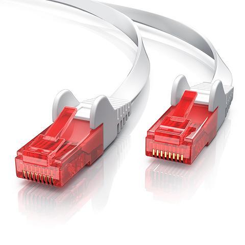 CSL Cat.6 Flachband Netzwerkkabel (RJ45) »...