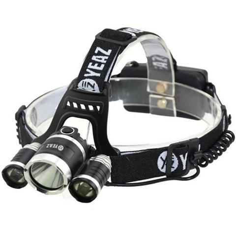 YEAZ Stirnlampe (1-St) su 3 LEDs Akku ir US...