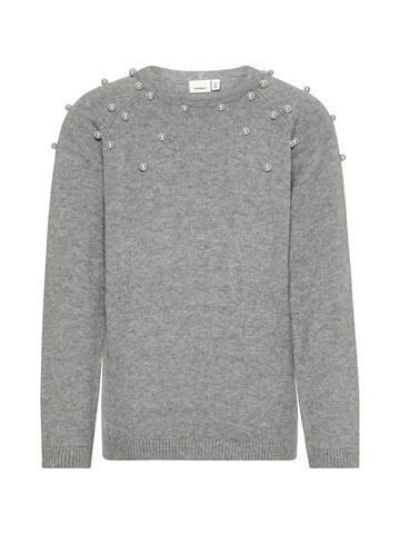 NAME IT Perlenverzierter megztas megztinis