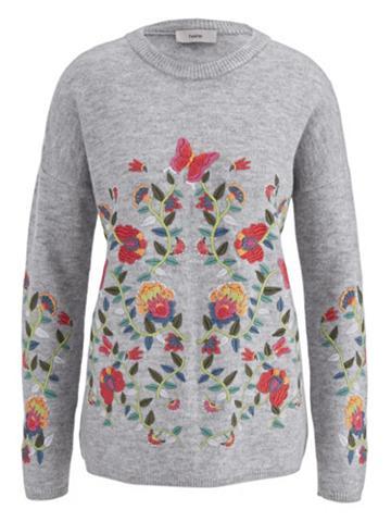 heine CASUAL Megztinis su išsiuvinėta gėlėmis