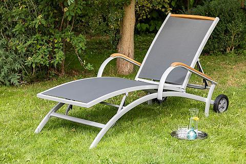 MERXX Sodo gultas »Siena« Alu/Textil/Akazie ...