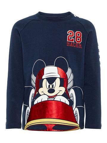 NAME IT Mickey Mouse Marškinėliai su ilgis ran...