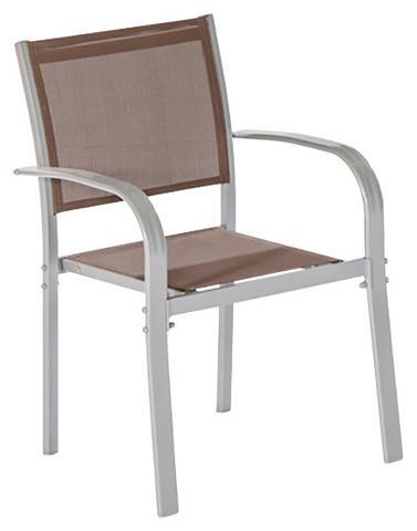 MERXX Poilsio kėdė »Ostia« Alu/Textil stapel...