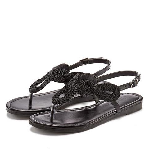 LASCANA Zehentrenner-Sandale im Metallic-Look