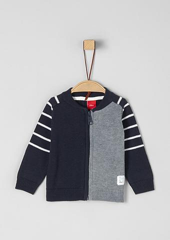 S.OLIVER RED LABEL JUNIOR Megztinis im Colourblock-Design dėl Ba...