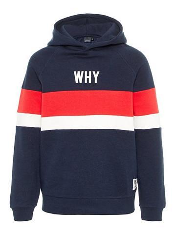 NAME IT Raštas Sportinio stiliaus megztinis