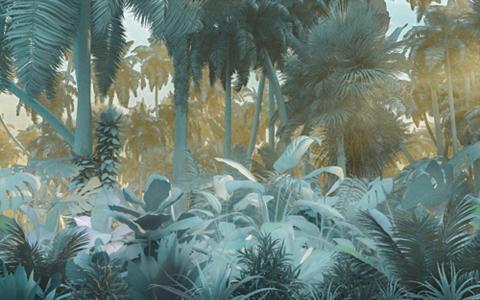 KOMAR Vlies fototapetas »Misty Jungle« 400/2...