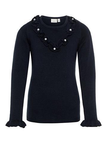 NAME IT Perlenverzierter Megztinis