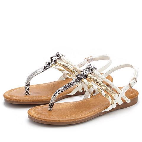 LASCANA Zehentrenner-Sandale in Kroko-Optik