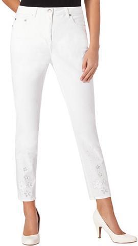 ALESSA W. 7/8 ilgio kelnės su Blütenstickerei