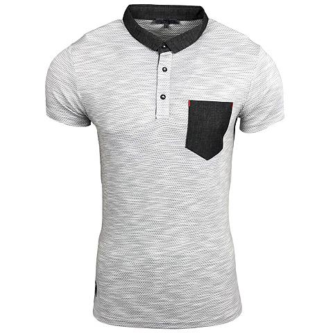 RUSTY NEAL Polo marškinėliai su farbiger užsėgama...