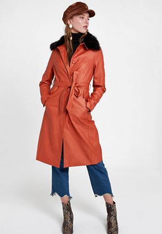 OXXO Dirbtinės odos paltas