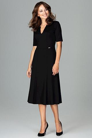 LENITIF Suknelė su femininem su V formos iškir...