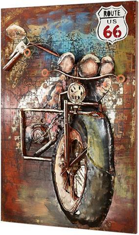 HOME AFFAIRE Metalinis paveikslas »3D ROUTE 66«
