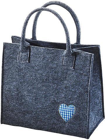HOME AFFAIRE Flisinis krepšys »blaues Herz«