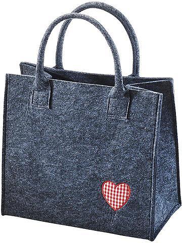 HOME AFFAIRE Flisinis krepšys »rotes Herz«