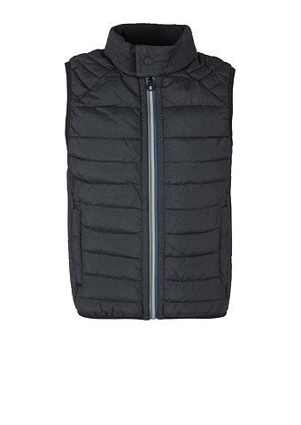 S.OLIVER Dygsniuota liemenė su Kontrast-Zipper