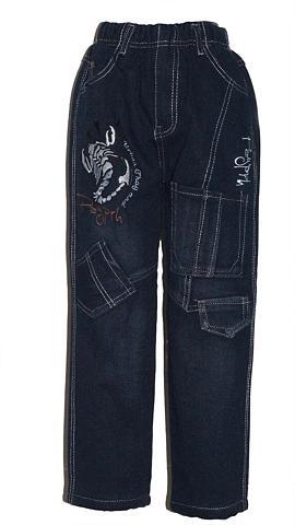 FAMILY TRENDS Pašiltinti džinsai su Vollgummibund
