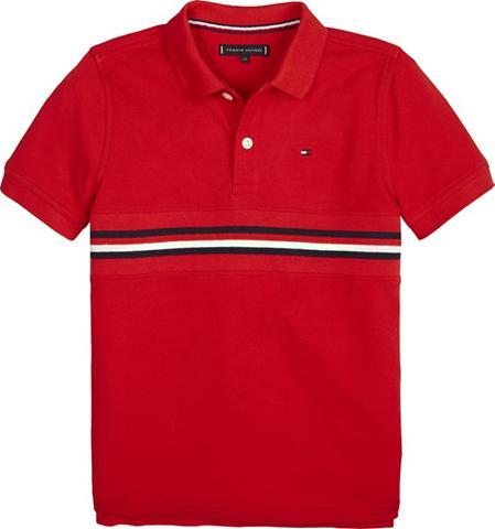TOMMY HILFIGER Polos »FLAG INSERT Polo marškinėliai S...