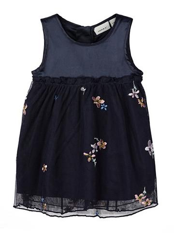 NAME IT Blumenbesticktes tiulio suknelė suknel...