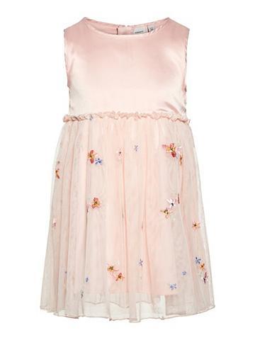 NAME IT Blumenbesticktes Tiulio suknelė