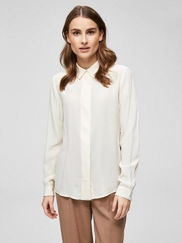 SELECTED FEMME Seiden marškiniai ilgomis rankovėmis