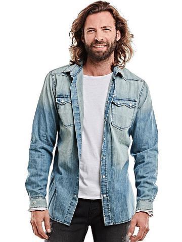 EMILIO ADANI Lässiges džinsiniai marškinėliai