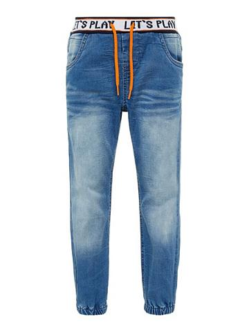 NAME IT Baggy forma Super Stretch Pull-On Džin...