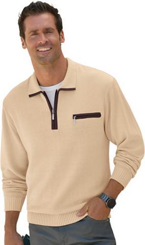 CATAMARAN Megztinis su gerippten Ärmelbündchen