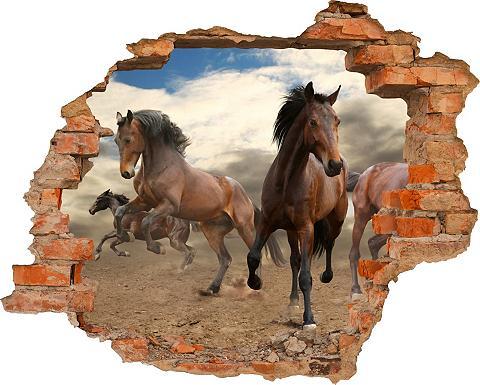 3D-Wandtattoo »Horses« selbstklebend