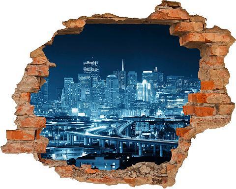 3D-Wandtattoo »Blue City« selbstkleben...