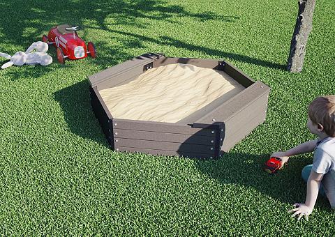 LUOMAN Smėlio dėžė 6-eck BxTxH: 109x109x27 cm...