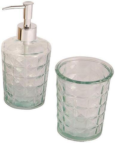 HOME AFFAIRE Vonios priedų rinkinys klar Iš stiklo ...