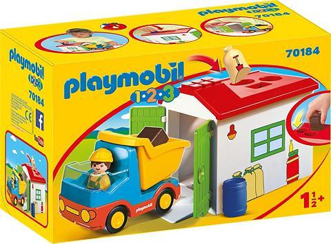 PLAYMOBIL ® LKW su Sortiergarage (70184) » 1-2-3...