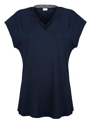 MONA Marškinėliai be rankovių su subtilus n...