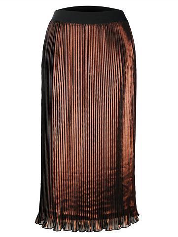 MONA Plisuotas sijonas su raštas