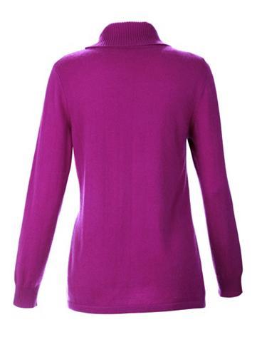 MONA Kašmyrinis megztinis su apykaklė aukšt...