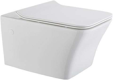 Wand-WC »Trento eckig« Spülrandloses T...
