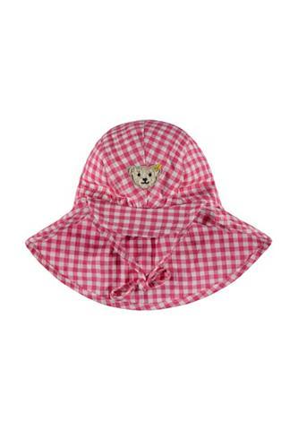 STEIFF Skrybėlė su Nackenschutz languota