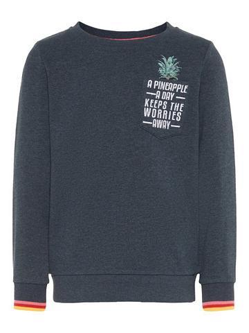 NAME IT Raštuotas Sportinio stiliaus megztinis...