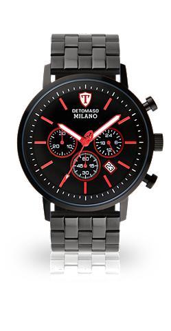 DETOMASO Chronografas- laikrodis »MILANO XL BLA...